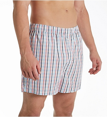 Tommy Bahama Stripe Plaid Cotton Woven Boxer