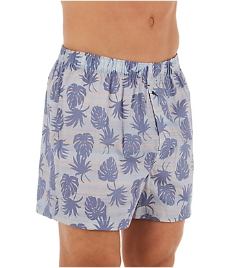 Tommy Bahama Stripe Leaves Cotton Woven Boxer