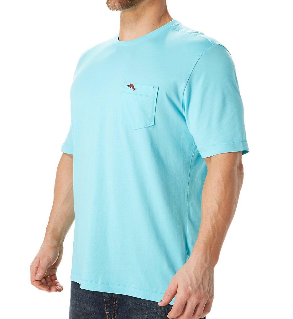 tommy bahama tr210949 bali sky cotton jersey tee (banff blue l)