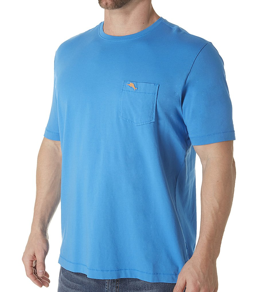 tommy bahama tr210949 bali sky cotton jersey tee (blue canal m)