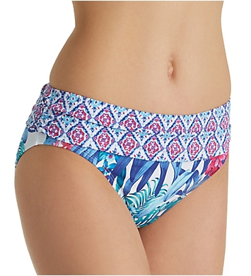 Tommy Bahama Majorelle Jardin High Waist Brief Swim Bottom