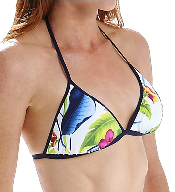 Tommy Bahama Happy Hibiscus Reversible Halter Triangle Swim Top