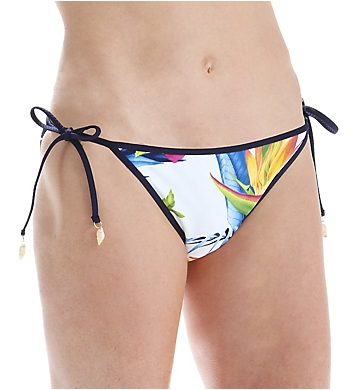 Tommy Bahama Happy Hibiscus Reversible Bikini Swim Bottom
