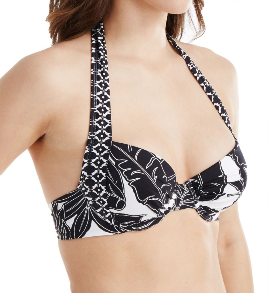 Tommy Bahama Graphic Leaf Full Coverage Underwire Swim Top