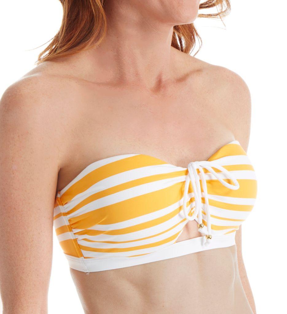 Tommy Bahama Sportif Stripe Underwire Bandeau Swim Top