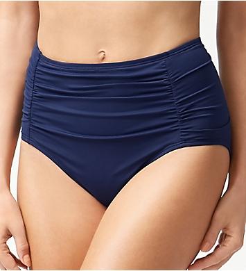 Tommy Bahama Pearl Solids Shirred High Waist Brief Swim Bottom