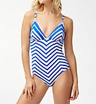 Beach Glass Stripe One Piece Swimsuit