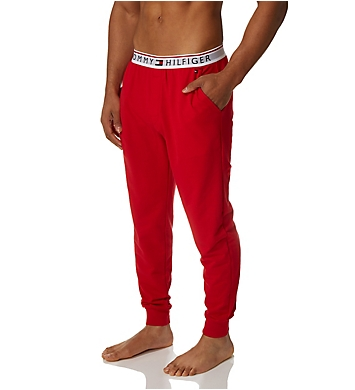 Mens Tommy Hilfiger French Terry Jogger Pants Loungewear Tapered Pants NEW