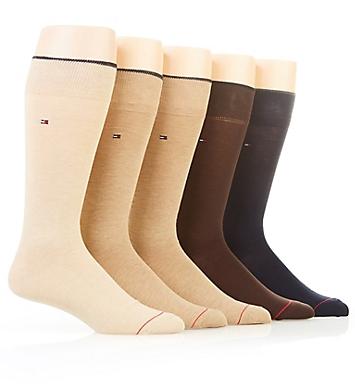 Tommy Hilfiger Solid Dress Crew Sock - 5 Pack