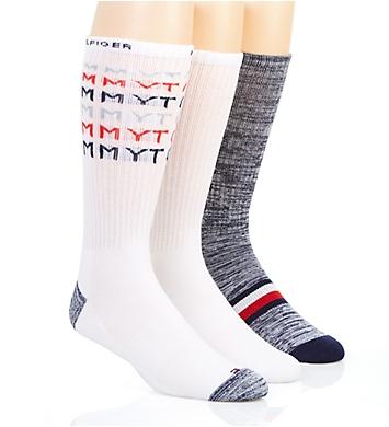 Tommy Hilfiger Faded Logo Cushion Crew Sock - 3 Pack