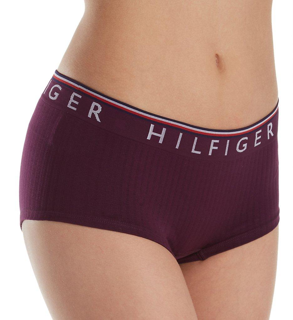 Tommy Hilfiger : Tommy Hilfiger R13T028 Seamless Rib Boyshort Panty (Purple Potion S)