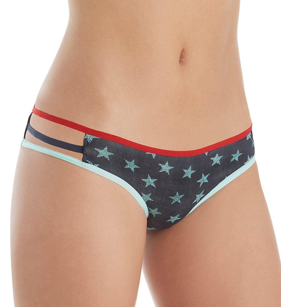 Tommy Hilfiger - Tommy Hilfiger R14T057 Micro Pop Elastic String Bikini Panty (Denim Star/Navy Blazer L)
