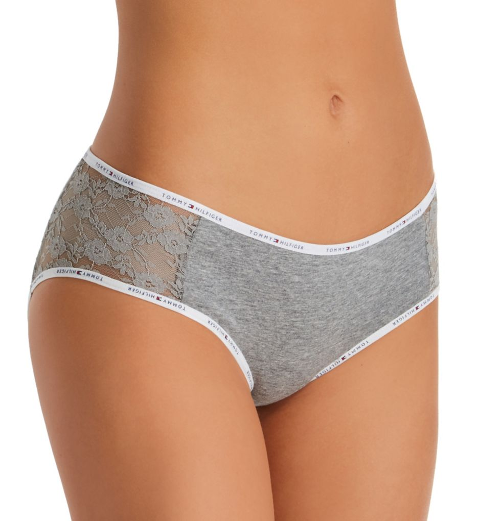 Tommy Hilfiger Cotton Logo Classic Hipster Panty with Lace