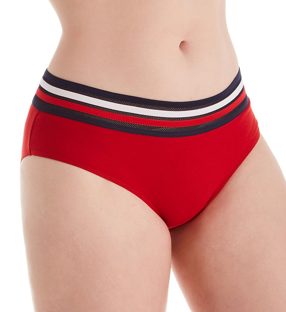 Tommy Hilfiger - Tommy Hilfiger R17T600 Classic Cotton Hipster Panty (Apple Red S)