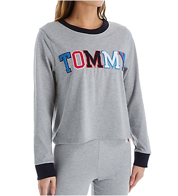 Tommy Hilfiger Embroidered Long Sleeve PJ Top