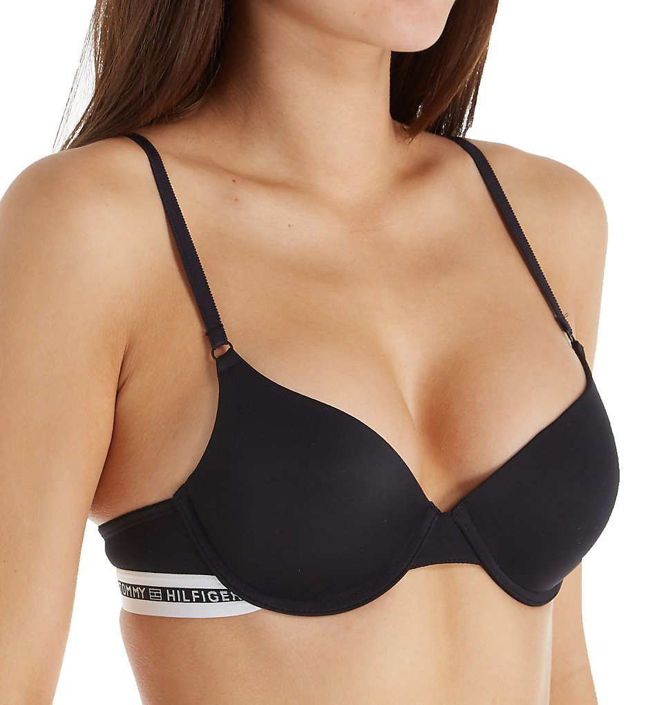 Tommy Hilfiger - Tommy Hilfiger R72T028 Microfiber Push-Up Bra (Anthracite 34A)