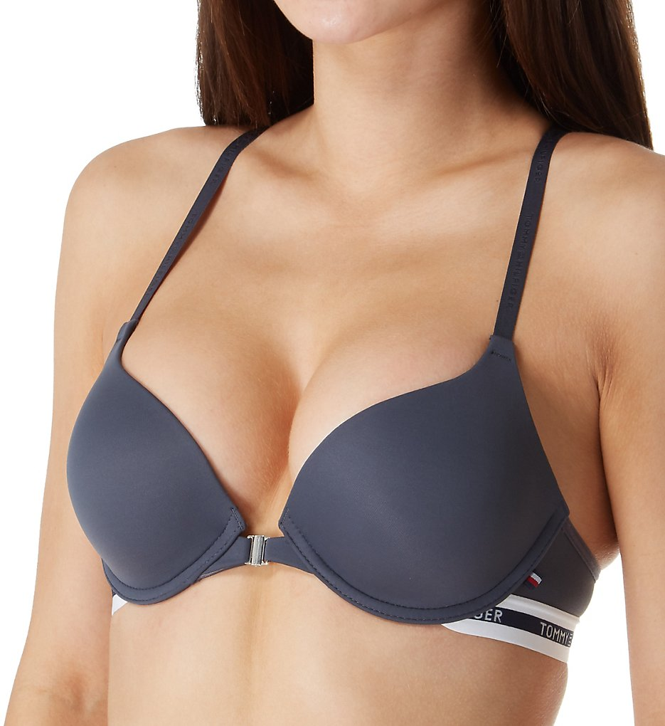 Tommy Hilfiger - Tommy Hilfiger R72T034 Racerback Micro Push Up Bra (Charcoal 34A)