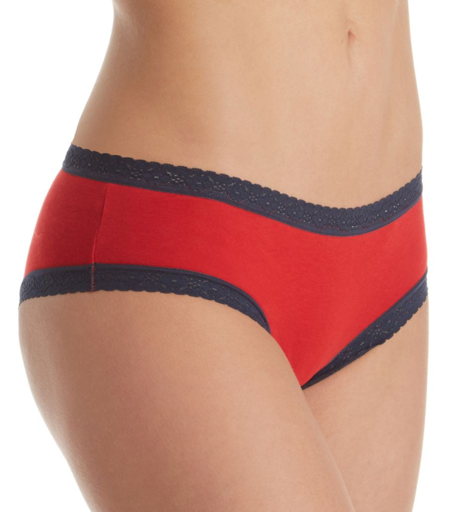 Tommy Hilfiger Cotton Cheeky Panty with Lace - 2 Pack