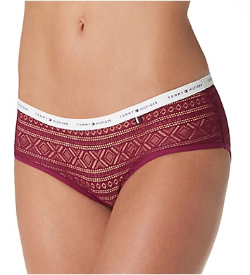 Tommy Hilfiger Geo Lace Logo Hipster Panty - 2 Pack