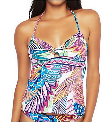 Trina Turk Paradise Plume Adjustable Fit Tankini Swim Top