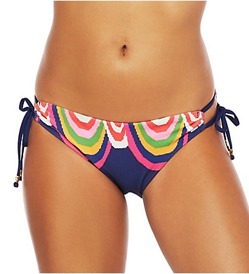 Trina Turk Rainbow Swirl Loop Side Hipster Swim Bottom