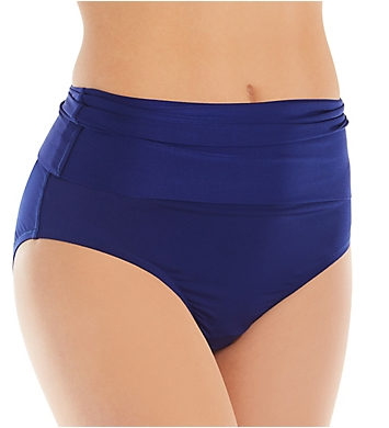 c12f522b6fa95 Trina Turk Getaway Solids Shirred High Waist Swim Bottom TT8BF92 ...