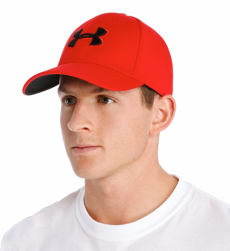 Under Armour Blitzing II Stretch Fitted Cap 1254123 - Under Armour ... e5fd56f6b06