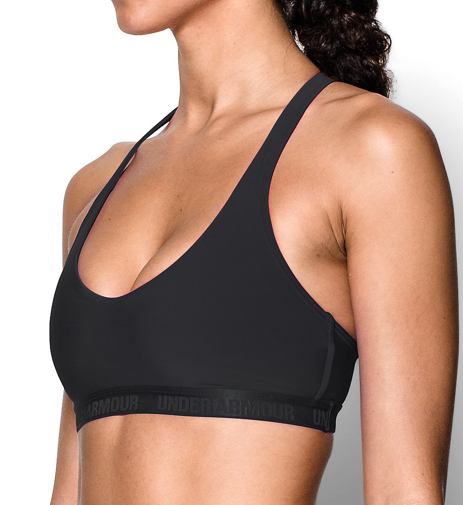 Under Armour : Under Armour 1259964 Armour Low-Impact Compression Sports Bra (Black/Black XL)