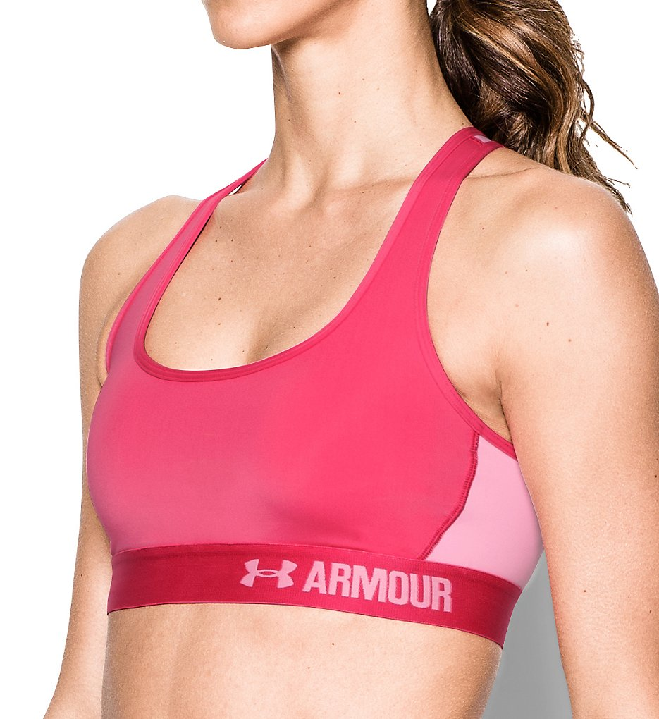 Under Armour 1276503 HeatGear Armour Crossback Mid-Impact Sports Bra