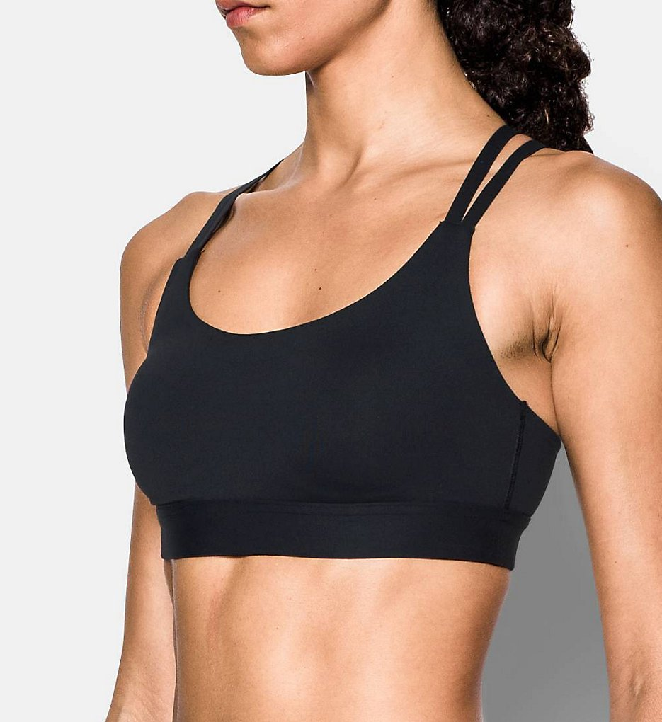 Under Armour : Under Armour 1293928 Eclipse StudioLux Strappy Low Impact Sports Bra (Black M)