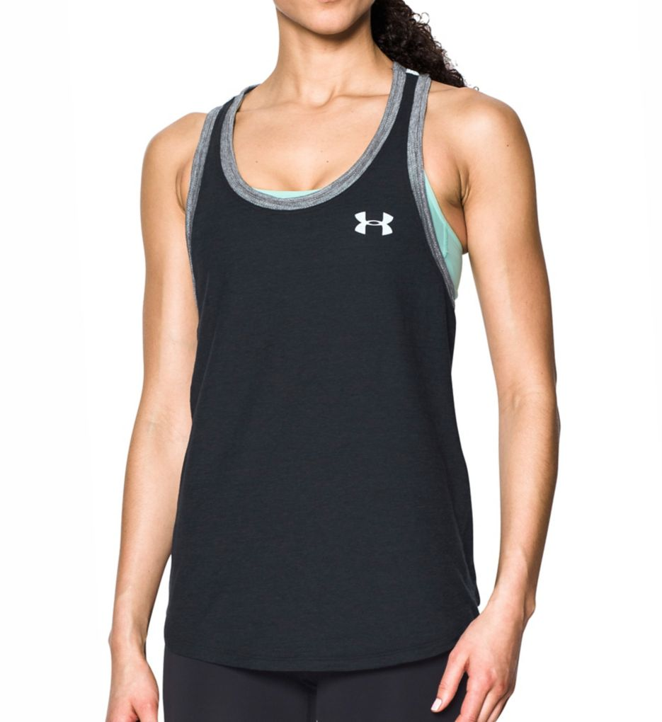 Under Armour UA Charged Cotton Mesh Wordmark Tank