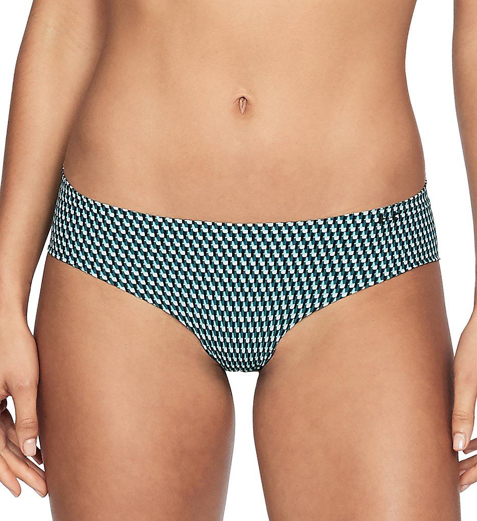 Under Armour : Under Armour 1302281 UA Pure Stretch HeatGear Printed Hipster Panty (Tourmaline Teal/Black M)