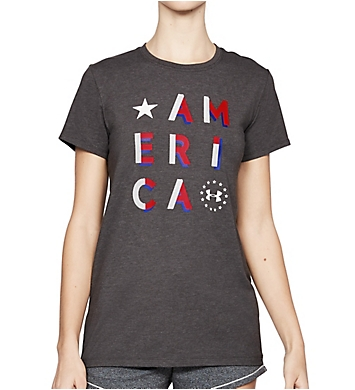 Under Armour UA Freedom Charged Cotton America Crew Neck Tee