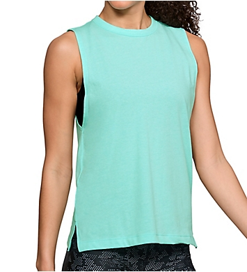 Under Armour Charged Cotton Side Slit Hem Muscle Tank