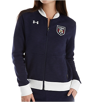 Under Armour Top Step Fleece Bomber Jacket