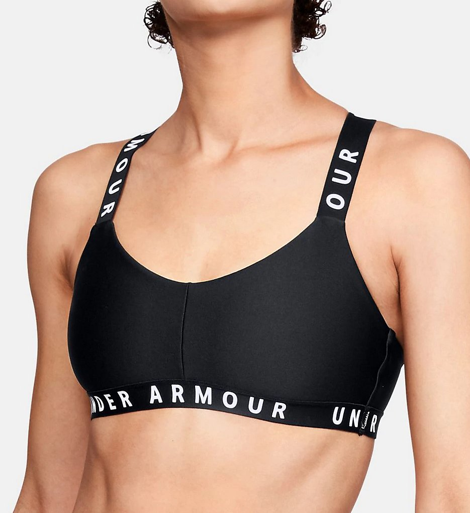 Under Armour - Under Armour 1325613 Wordmark Strappy Low Impact Sports Bra (Black XS)