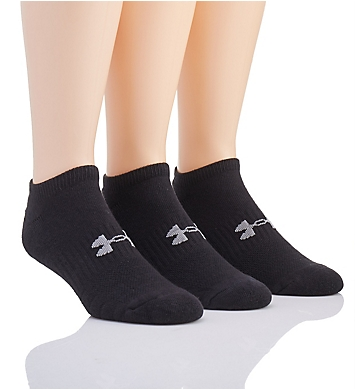 Under Armour Training Cotton No Show Socks - 3 Pack