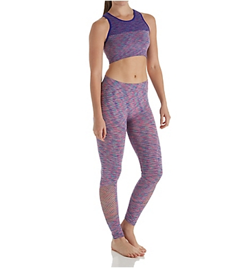 Under Control Mesh Hi-Neck Sports Bra and Legging Athleisure Set