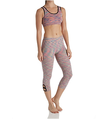 Under Control Cross Binding Sports Bra and Capri Athleisure Set