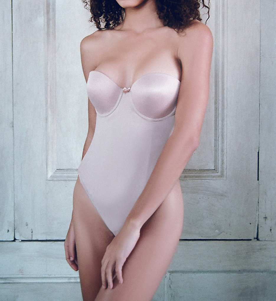 Va Bien >> Va Bien 1509 Smooth Strapless Backless Thong Bodysuit (Nude 34B)