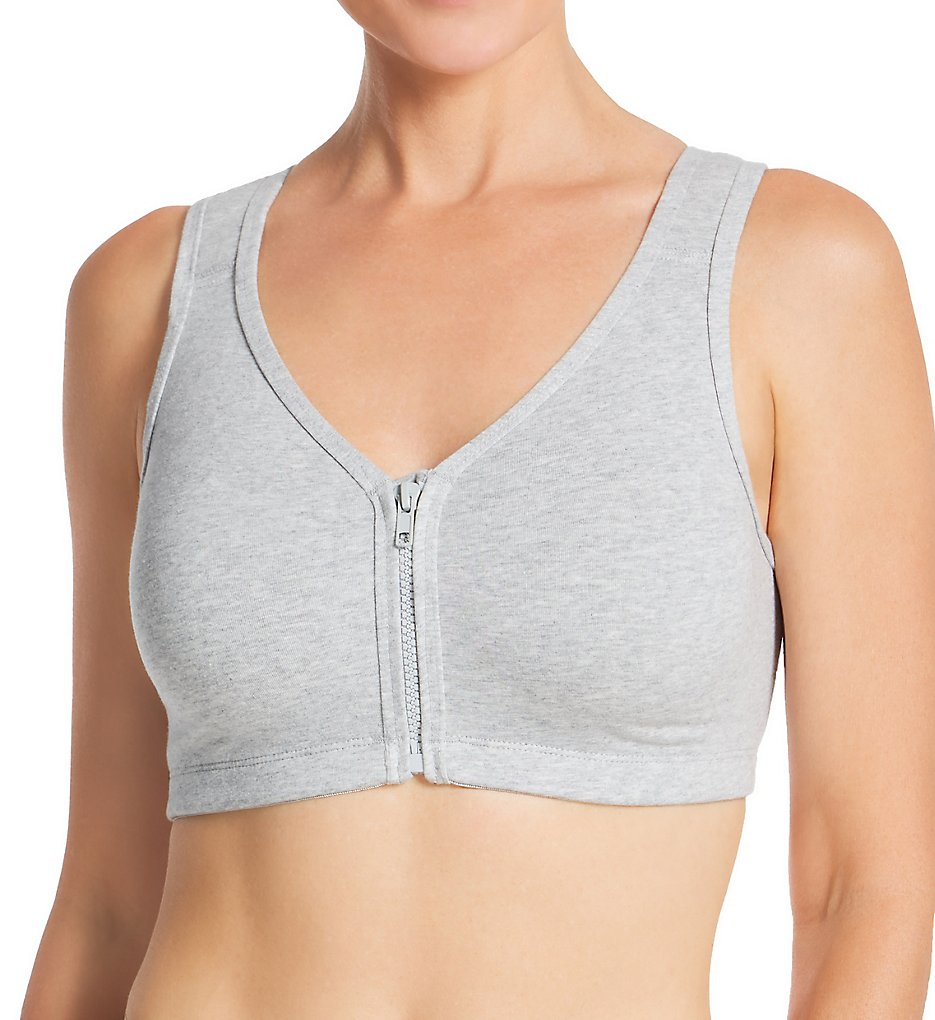 Valmont 1611 Zip Front Leisure and Sports Bra (Heather Grey)