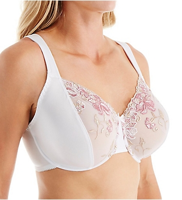 Valmont Embroidered Lace Underwire Minimizer Bra