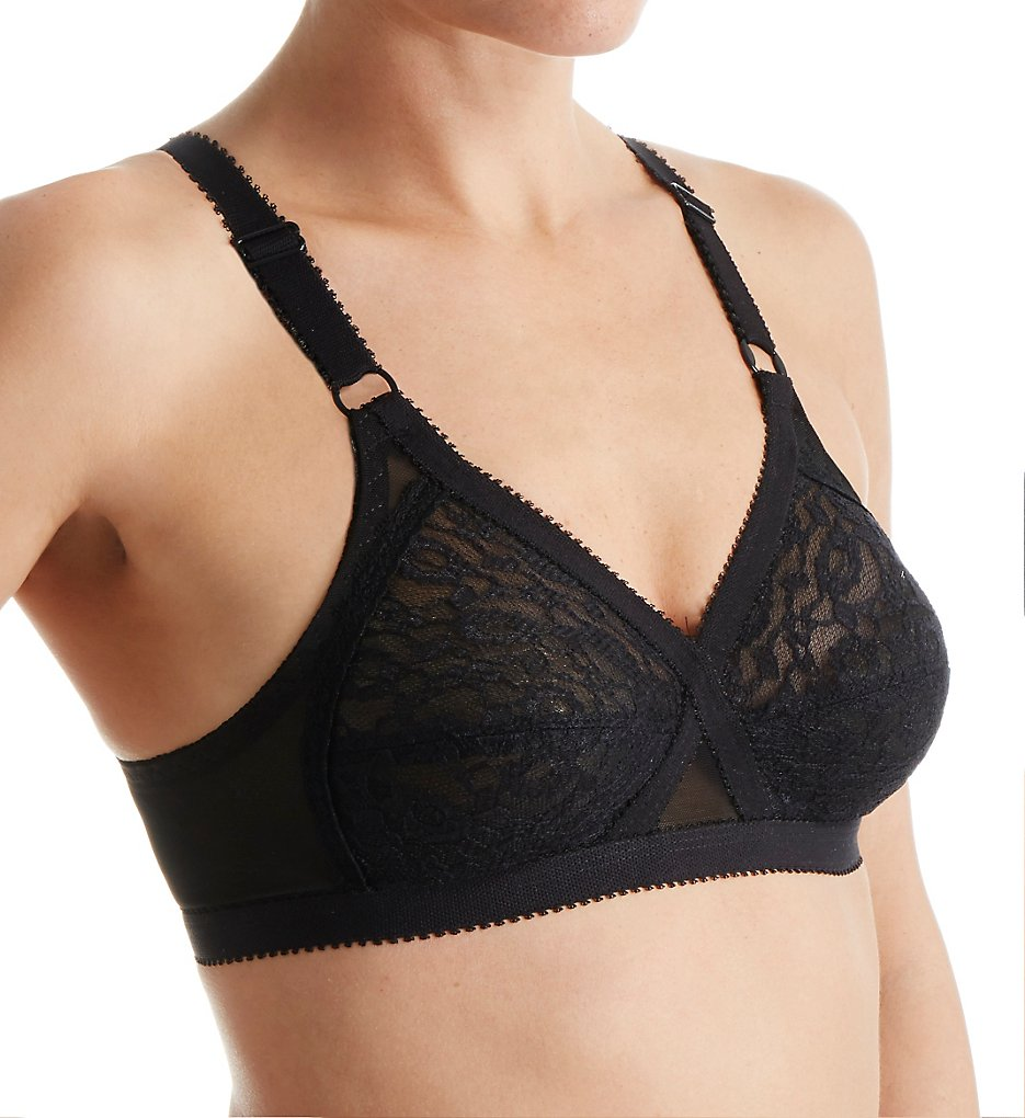 Valmont 51 Lace Criss Cross Soft Cup Bra (Black)