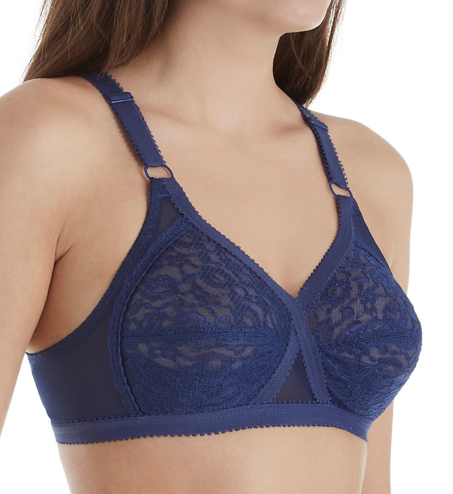 Valmont 51 Lace Criss Cross Soft Cup Bra (Navy)