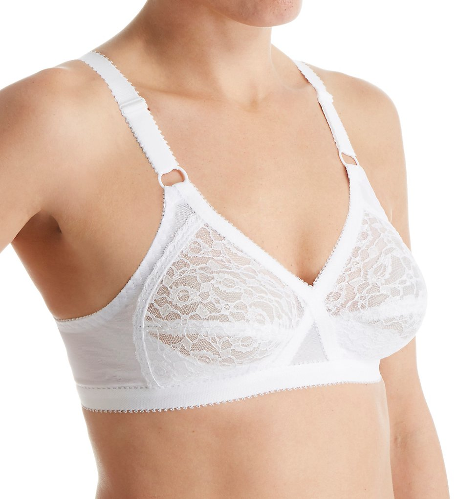 Valmont 51 Lace Criss Cross Soft Cup Bra (White)