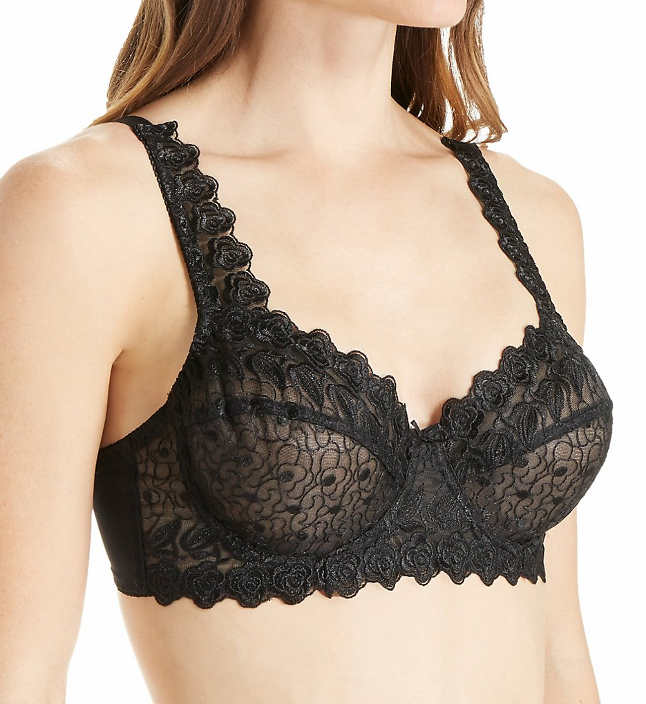 Valmont - Valmont 8320 Embroidered Lace Underwire Bra (Black 34B)