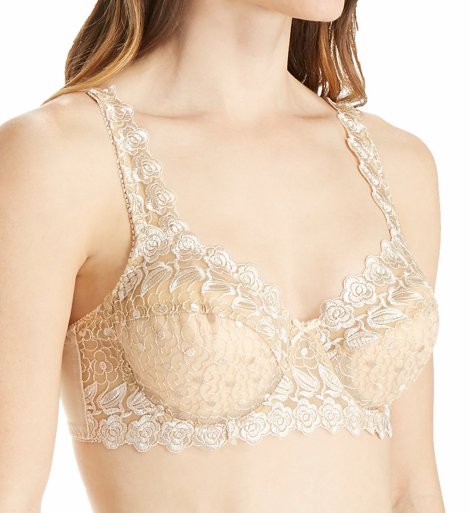 Valmont 8320 Embroidered Lace Underwire Bra (Nude)