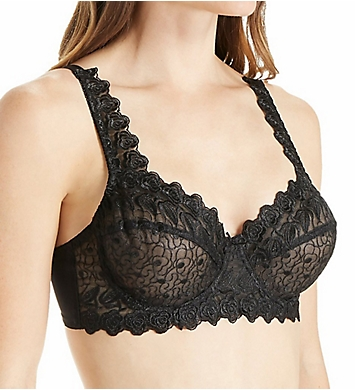 Valmont Embroidered Lace Underwire Bra