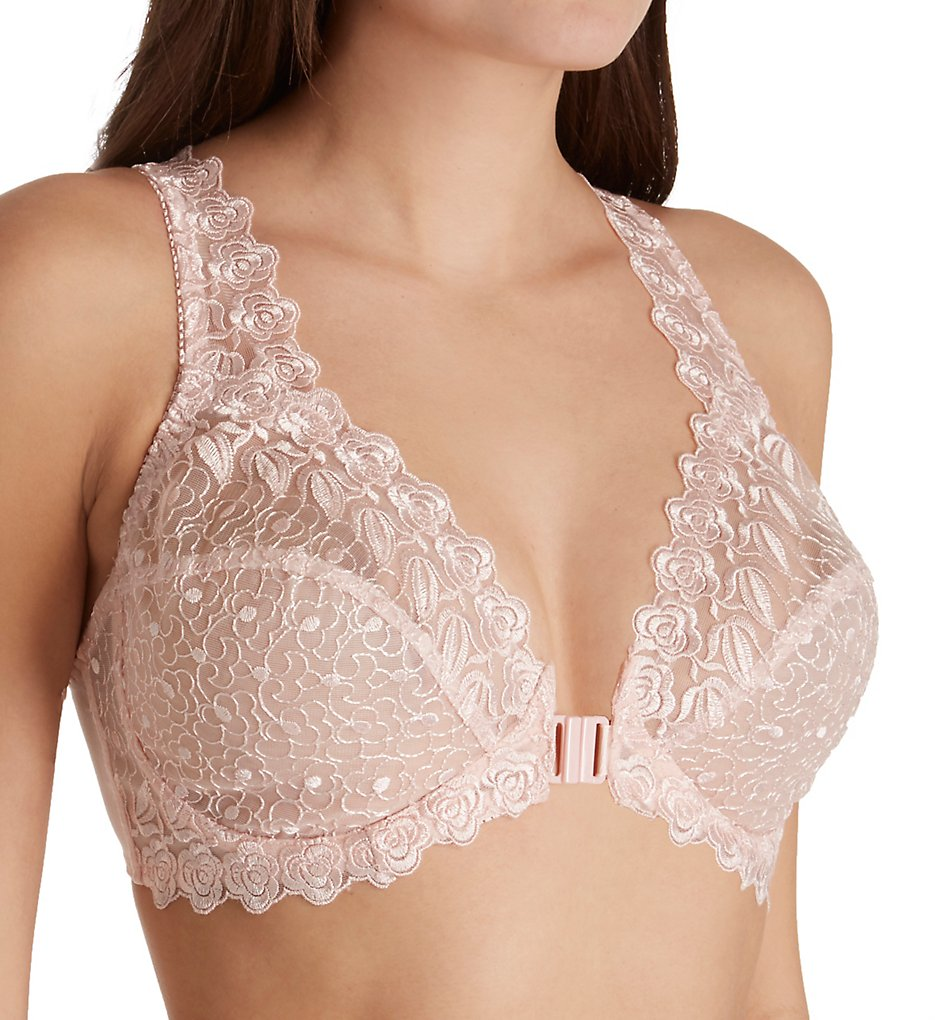 Valmont 8323 Front Close Lace Cup Underwire Bra (Light Pink)