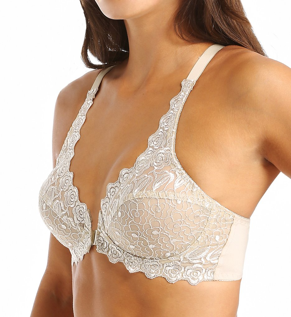 Valmont 8323 Front Close Lace Cup Underwire Bra (Nude)